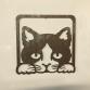 Cat Peeping Wall Art Set Of 3