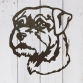 Border Terrier Head Wall Art