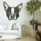 Boston Terrier Head Wall Art